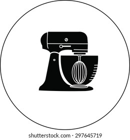 Stand Mixer With Clipping Path.