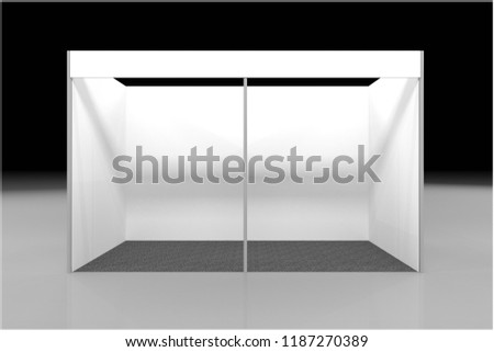 Exhibition Stand Information : Stand roll blank information promo booth stock illustration