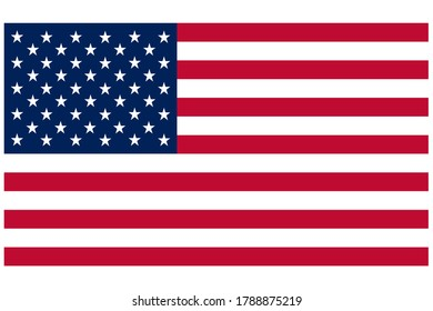 standard accurate size american flag red white and blue stars and stripes patriotic symbol graphic presentation banner poster invitation flyer illustration background backdrop card