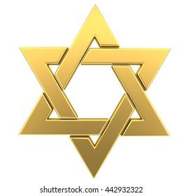Star of David . 3D illustration