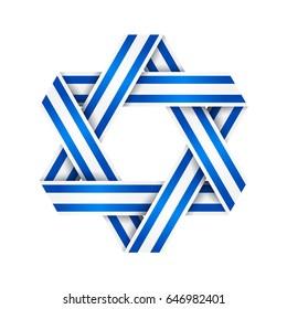 star david made interlaced ribbon israel stock vector royalty free rh shutterstock com Egypt Flag Clip Art Clip Art Flags Ofegypt