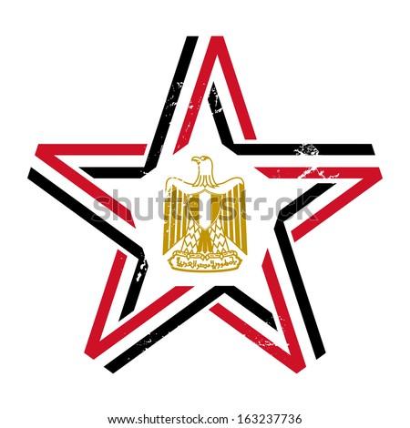 Star Egypt Flag Colors Symbols Vintage Stock Illustration 163237736