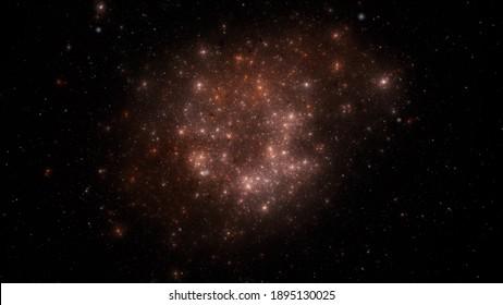Star field background . Glow swirls night sky.