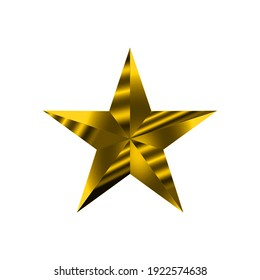 Star Gold Effect on a white background