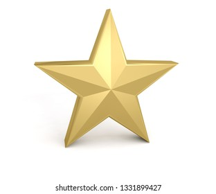 star gold golden yellow 3D illustration