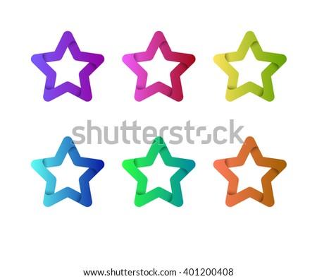 Star Logo Template Emblem Celebrity Champion Rating
