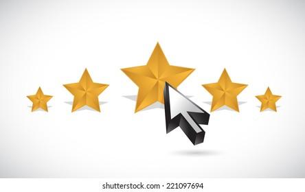 star rating illustration design over a white background