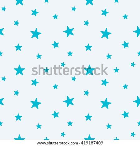 star seamless pattern cute light blue stock illustration 419187409
