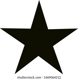 Star white and black, white background