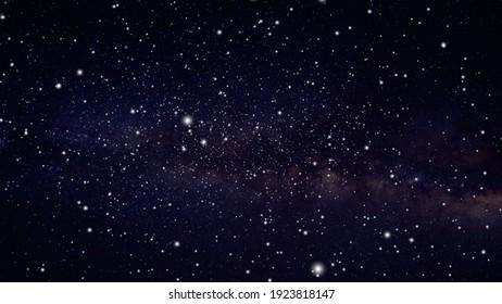 starry night sky universe illustration