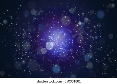 starry sky on blue background