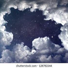 starry space scene