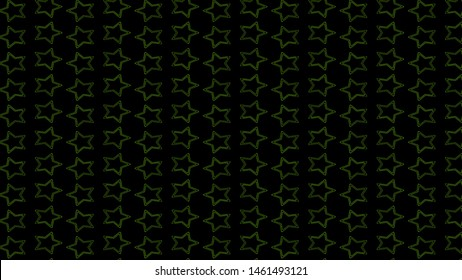 Stars 2d background. Minimalistic 2d design. pattern, five-pointed stars on a black background, alpha channel. Motion design for poster, cover, branding, banner, placard. Abstract.