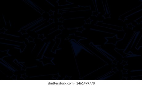 Stars 2d background. Minimalistic 2d design. Five-pointed stars on a black background, alpha channel. Motion design for poster, cover, branding, banner, placard. Abstract.