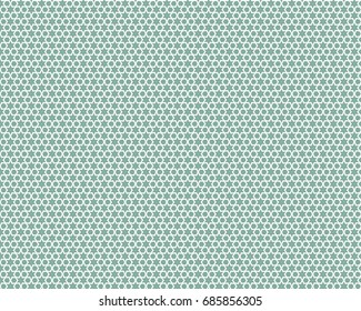 Stars and hexagons in a fresh green and white motif.