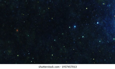 Stars in the night sky nebula and galaxy 3d illustration