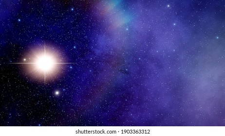stars in space, neutron star, beautiful star in deep space, binary systems 3d render