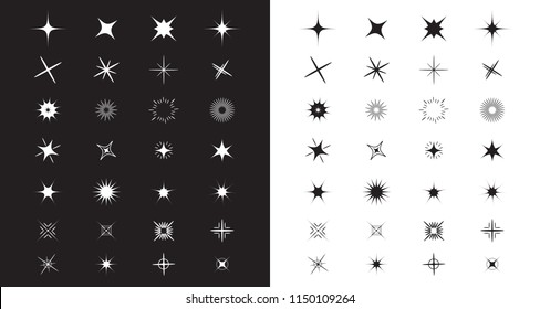 Stars Sparkles Sign Symbol Set Cute Stock Vector Royalty Free