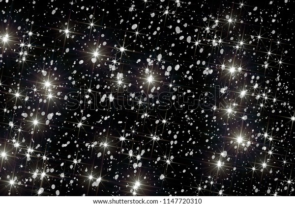 Stars. Starfield. Beautiful starry background.