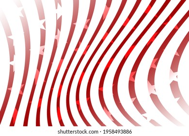stars and stripes american flag shape curves red and white illustration graphic