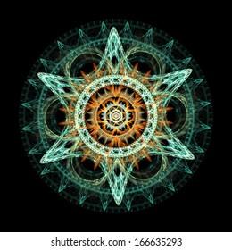 Star-shaped fractal design