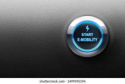 Start button - 3D illustration