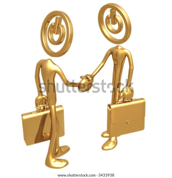 Start Up Deal Handshake