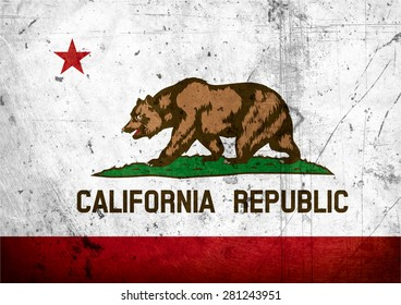 State of California grunge Flag