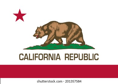 State flag of California - Authentic in scale and color