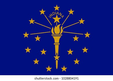 The state flag of the US state if Indiana