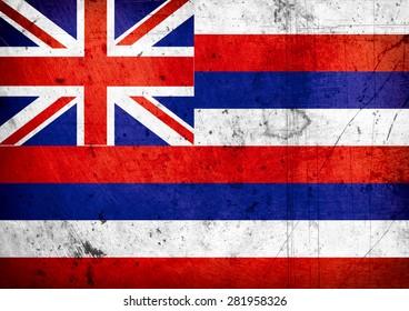 State of Hawaii grunge Flag
