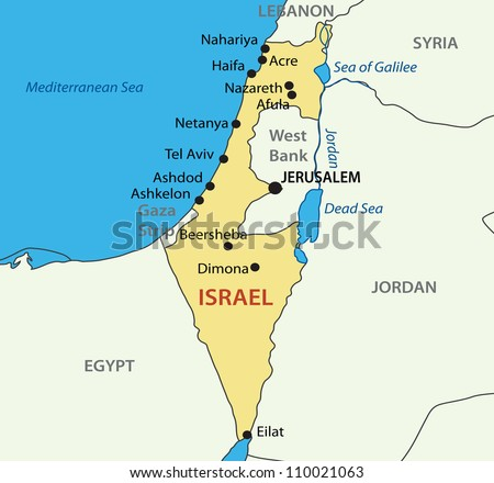State Israel Map Stockillustration 110021063 – Shutterstock