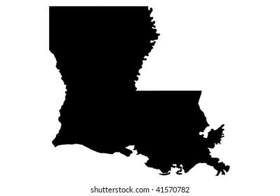 State of Louisiana - white background
