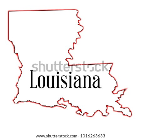 Royalty Free Stock Illustration Of State Map Outline Louisiana Over