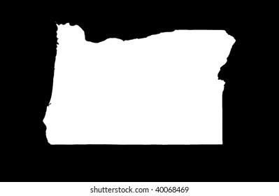 State of Oregon - black background