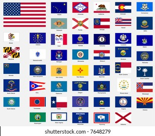 States flags of the united states of america