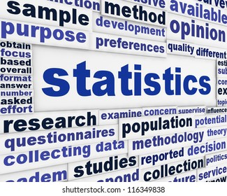 Statistics conceptual background. Scientific method poster design