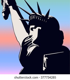 Statue of Liberty banner