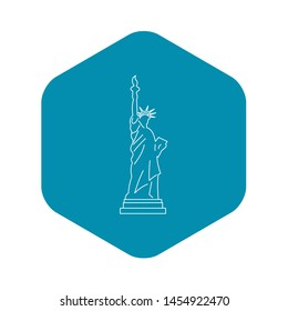 Statue of liberty icon. Outline illustration of statue of liberty icon for web