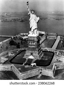 The Statue of Liberty New York City ca 1955