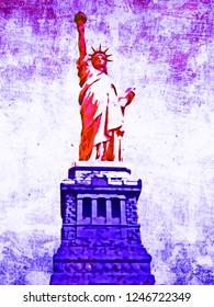 Statue of Liberty Watercolor