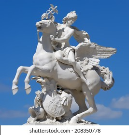 The statue of Mercury riding Pegasus illustration