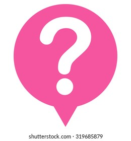 Status icon from Primitive Set. This isolated flat symbol is drawn with pink color on a white background, angles are rounded.
