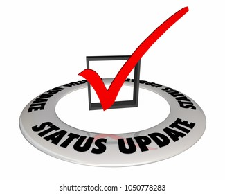 Status Update Check Mark Box Information 3d Illustration