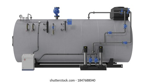 Steam Generator 3D illustration on white background