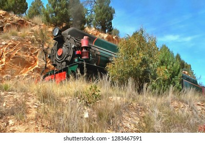 Steam Train near Quorn, South Australia