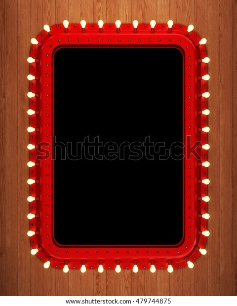 Steampunk Makeup Mirror On Wooden Wall Stock Illustration 479744875