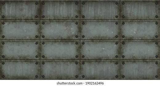 Steampunk metal texture.Old metal panel background.