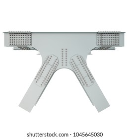 Steel Beam Structure on a white background. Isolated. 3D illustration