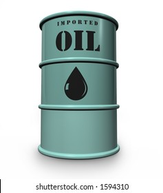 steel drum of imported oil